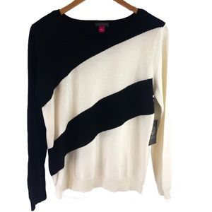 Vince Camuto Sunrise Bay Colorblock sweater; L